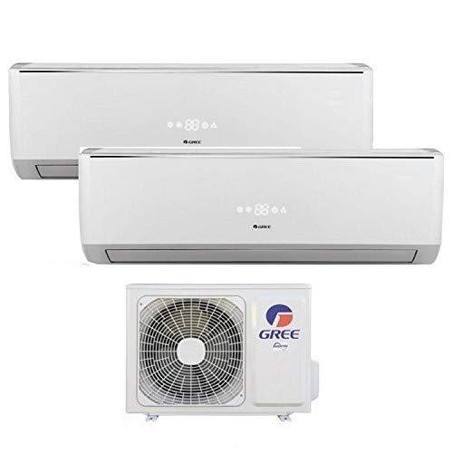 Climatizzatore inverter dual split BORA 9000 + 9000 Btu (U.E.14) GREE R32 classe A++ A+