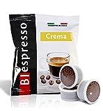 Biespresso Point caffè te tisane solubili capsule compatibili con Lavazza. Point Produzione propria made in Italy (200, CREMA)