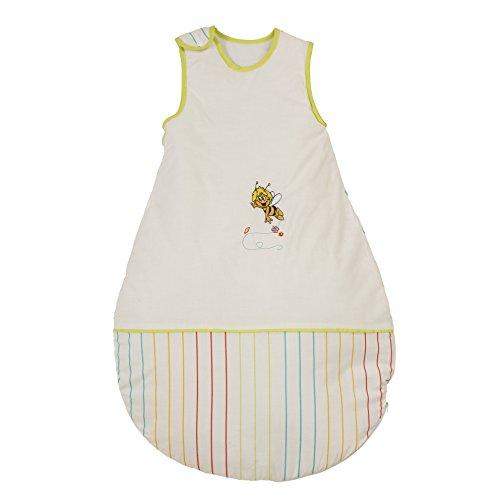 roba Schlafsack, 110cm, Kinderschlafsack ganzjahres/ganzjährig, aus atmungsaktiver Baumwolle, Kleinkindschlafsack unisex, Kollektion 'Biene Maja'