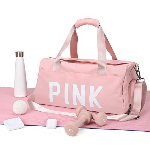 Bolsa Deporte Bolsas Gimnasio Mujer,bolso de entrenamiento para niñas con compartimento para zapatos y bolsillo mojado con correa para el hombro para gimnasio,yoga,natación,fin de semana