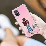 Croazhi Compatible pour Coque Samsung Galaxy A51 Case Liquid Crystal de Telephone Premium TPU Ultra Légère Case Cover pour Le Samsung Galaxy A51 Fleur Antichoc Etui Housse pour Samsung Galaxy A51