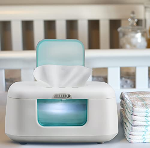 TinyBums Baby Wipe Warmer & Dispenser with LED Changing Light & On/Off...