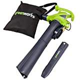 Greenworks 12 Amp 230 MPH 2-Speed Corded Blower/ Vacuum, Green   24022