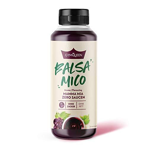GymQueen Mamma Mia Zero Sauce | kalorienarm, ohne Fett & ohne Zucker | Zum Verfeinern von Gerichten oder als Salat-Dressing | vegetarisch und laktosefrei | Balsamico Soße