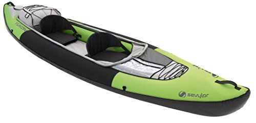 Sevylor Kayak Gonflable Yukon, Canoë Canadien 2 Places, Kayak de Mer, 382 x 98 cm