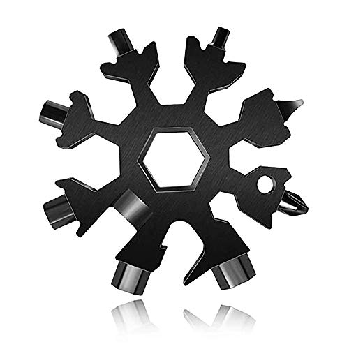 18-in-1 Multi-Tool Snowflake, Multi Attrezzo in Acciaio Portatile, Snowflake Multi attrezzo Multi attrezzo in acciaio portatile per viaggi in campeggio Regali Natale