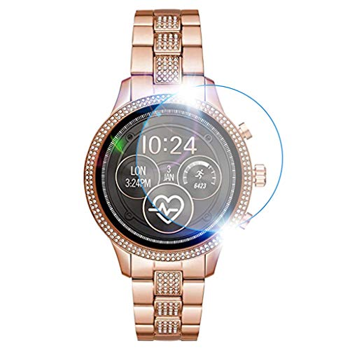 Shan-S Tempered Glass Screen Protector for Michael Kors MKT5068,[9H Hardness] [Anti-Fingerprint] [Bubble Free] Clear Film Tempered Glass Screen Protector for Michael Kors MKT5068 Smart Watch