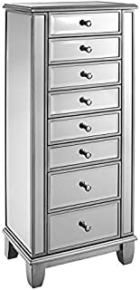Powell Candice Mirrored Jewelry Armoire in Silver