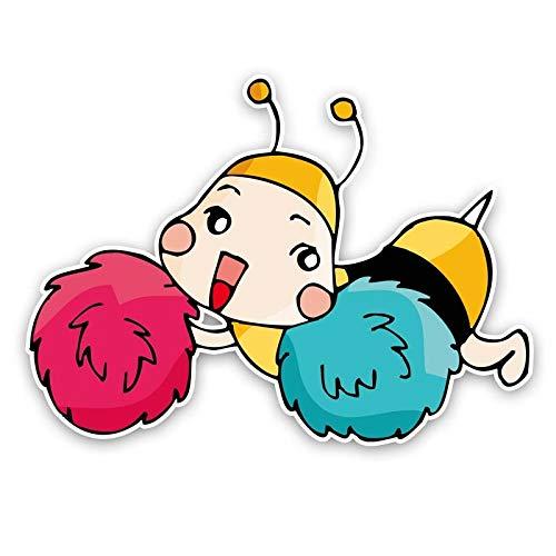 SSQ Happy Bees Decal Car Sticker 14.4Cm*10.5Cm