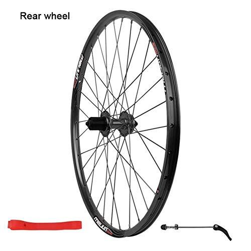 mächtig der welt XIAOL Mountainbike Wheel Schwarzes Fahrrad Vorderrad 26 Zoll Fahrrad Hinterrad Quick Release Kompatibel…