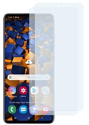 mumbi Schutzfolie kompatibel mit Samsung Galaxy A51 Folie klar, Displayschutzfolie (2X)