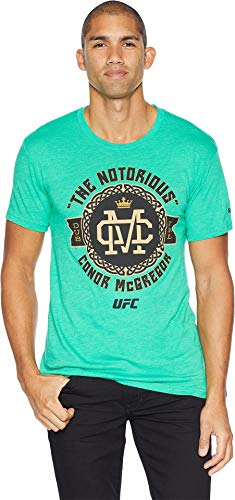 Reebok Herren UFC Conor McGregor Celtic Badge Short Sleeve Tee kurzärmelig, grün, Large