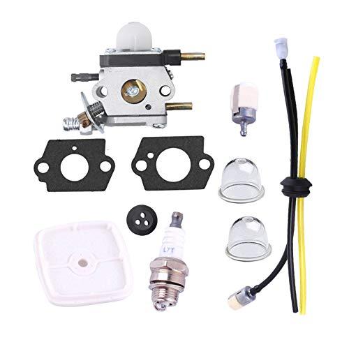 Carburetor for Zama Mantis Tiller Parts C1U-K54A 7222 7225 SV-5C/2 Engine with Air Filter Repower Kit - Podoy C1U-K82