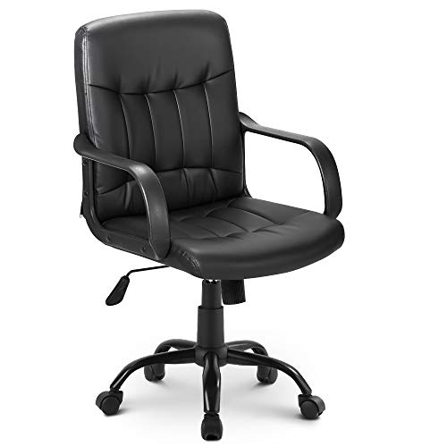 Merax Office Chair Desk Swivel Chair High Back Mesh Desk Swivel Chair for Home Office Task Chair Adjustable Height Executive Chair Recline Mesh Seat,250lbs Weight Capacity(Black)