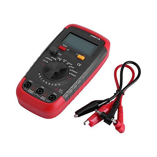 Jadpes Medidor de condensador Probad, r, medidor de capacitancia capacitancia con batería digital profesional Medidor 6013L Pantalla LCD Circuito de resistencia de capacitancia d