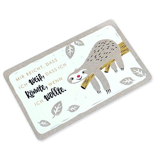 Sheepworld Die Geschenkwelt 45182 Schneidebrett Faultier, Resopal, mehrfarbig, 14.3 x 23.3 x 0.2 cm Brettchen
