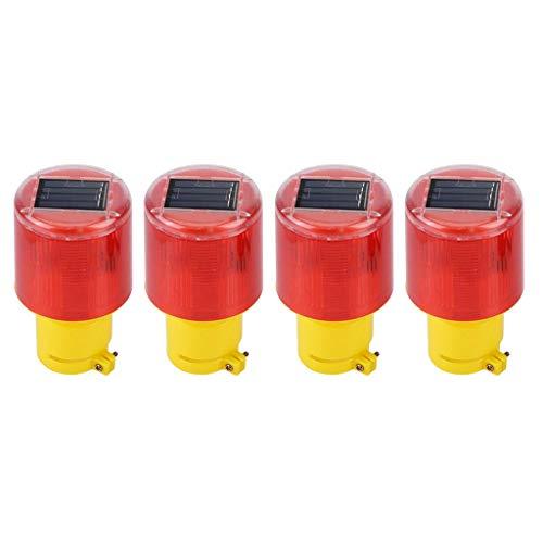 N\C 4X Luces de Flash de Alarma de Advertencia de Emergencia Estroboscópica de Baliza de Coche LED Solar Lámpara Roja