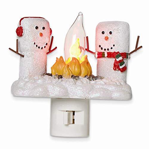 """Roman 48996-4.5"""" Marshmallow Campfire Flickering Night Light (165115)"""