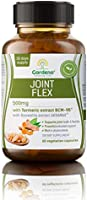 Gardeno Joint Flex - Standardized Curcumin & Boswellia Extract for Joint Pain Relief - 60 Vegetable Capsules