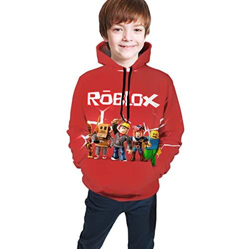 TIETOUXIAOZI Kids Hoodies 3D Print Hoodies Cartoon Hoodie Boys Girls Hoodie Unisex Pullover Sweatshirts Rob-lox3-18-20 Years