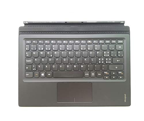 Original Swiss Portable Tastatur mit Handballenauflage Touchpad Mini Basis für Lenovo Ideapad MIIX 700-12ISK Tablet 5N20K07180