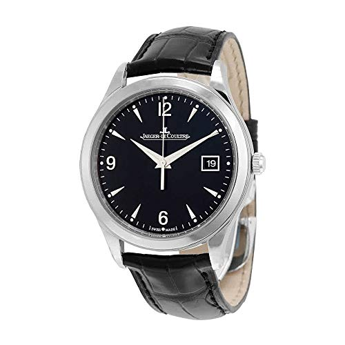 JAEGER LECOULTRE MEN'S MASTER 39MM BLACK LEATHER BAND AUTOMATIC WATCH...