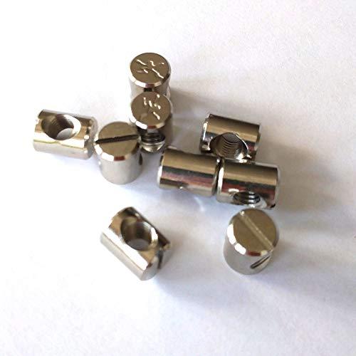 Tekknosport – 10 tornillos insert para cortavientos de aletas 9 mm M6 rosca latón inoxidable