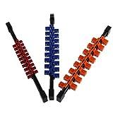 S-TROUBLE 3 unids/Set Organizador de Soporte de riel de Enchufe de Doble Cara de plástico Industrial Universal 1/4 3/8 1/2