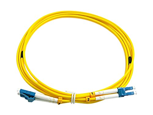 CableJoy LC-LC 50//125 OM4 Duplex Multimode PVC Fiber Optic Cable Aqua 2 Meter