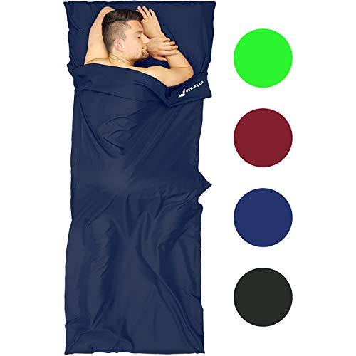 Fit-Flip Saco de Dormir Compacto, Saco de Dormir de Microfibra, Saco de Dormir Ligero también como Saco de Dormir con Cremallera, Saco de Dormir para Adultos Ligero y Compacto