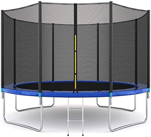 12ft Trampolines with Safety Enclosure Net, Spring Pad, Ladder, Combo Bounce Jump Trampoline,...