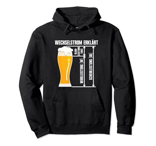 Wirkleistung, Blindleistung, Scheinleistung Lustiges Bier Pullover Hoodie
