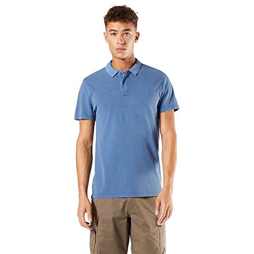 Dockers Garment Dyed Polo, Sunset Blue, XL para Hombre