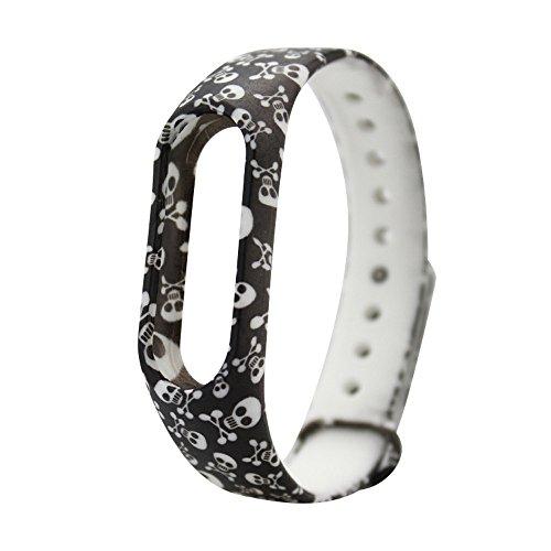 KIMODO Replacement Silica Gel Wristband Band Strap For Xiaomi Mi Band 2 Bracelet