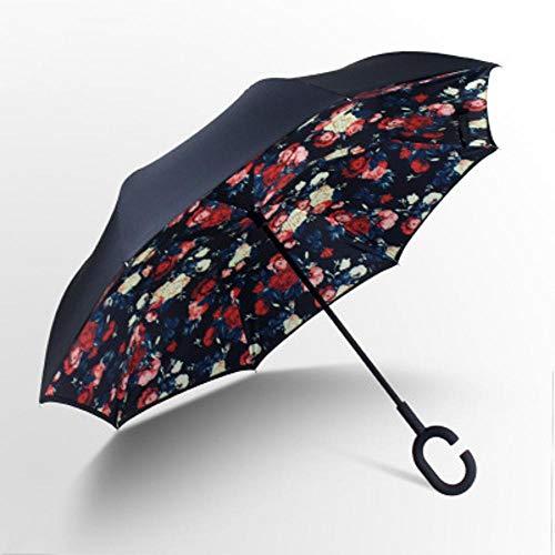 WDZZZ Opvouwbare paraplu Dubbelzijdige omgekeerde paraplu C-type vrije staande zonnescherm 81 * 107cm