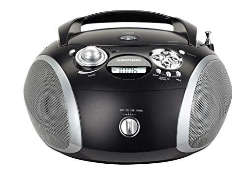 Grundig RCD 1445 Radio (USB 2.0) mit CD/-MP3/-WMA Wiedergabe schwarz/silber