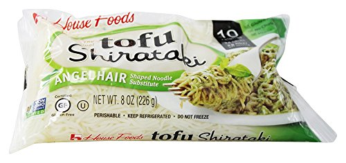 House Foods - Tofu Shirataki Noodles Angel Hair Shaped Noodle Substitute - 8 oz (pack of 2)