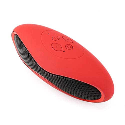 Drahtloser Lautsprecher Tragbarer Stereo-Resonanzkörper für Smartphone-Tablet-Super-Bass-Lautsprecher Langlebiger Musikverstärker (Farbe: Rot & Roter Rand)