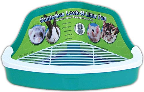 (2 Pack) Ware Manufacturing Plastic Scatterless Lock-N-Litter Small Pet...