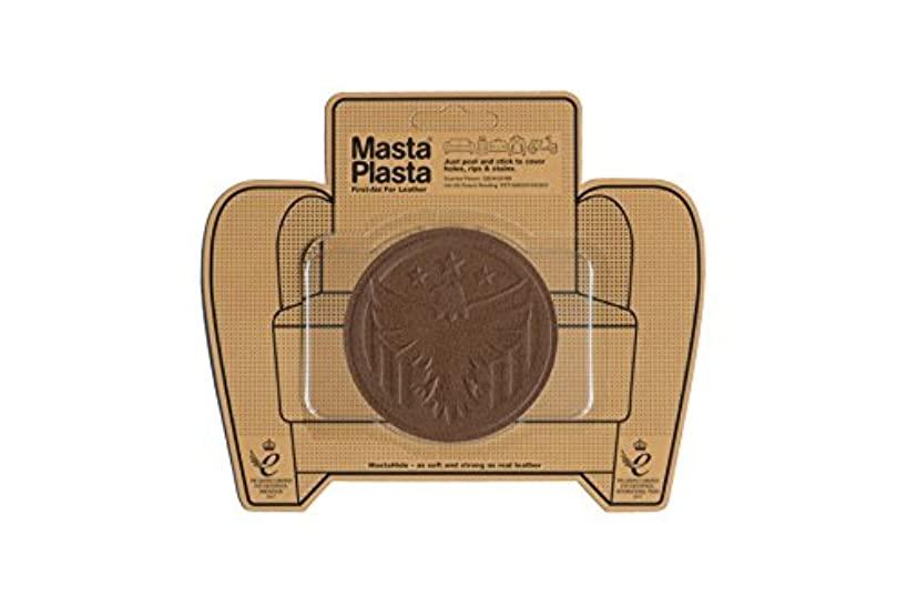MastaPlasta Self-Adhesive Patch for Leather and Vinyl Repair, Eagle, Tan - 3 Inch Diameter - Multiple Colors Available