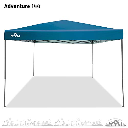 Yoli Adventure 144 12'x12' Instant Canopy with Royal Blue Top and Gray Frame