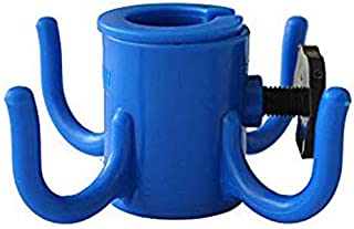 AMMSUN Beach Umbrella Hanging Hook,4-prongs Plastic Umbrella Hook Hanging for Towels/Hats/Clothes/Camera/Sunglasses/Bags,Fit for Beach,Camping Trips Blue