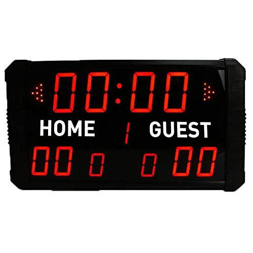 Puntuación de Puntuación de Baloncesto Deportivo 24s Countdown Ball Game Indoor Marcador LED Baloncesto Marcador Electrónico para Béisbol de Voleibol de Fútbol. (Color : Black, Size : 54x32x32cm)