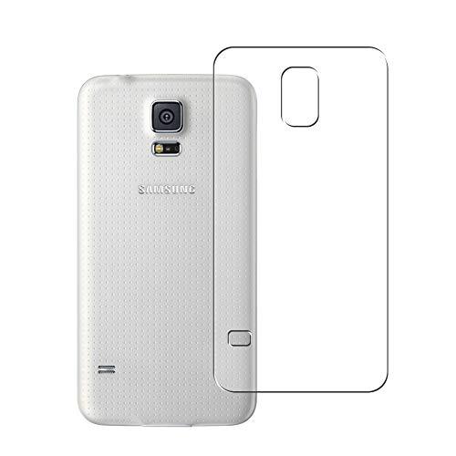 Vaxson 2 Unidades Protector de pantalla Posterior, compatible con Samsung Galaxy S5 Plus G901F [No Vidrio Templado] TPU Película Protectora Espalda Skin Cover