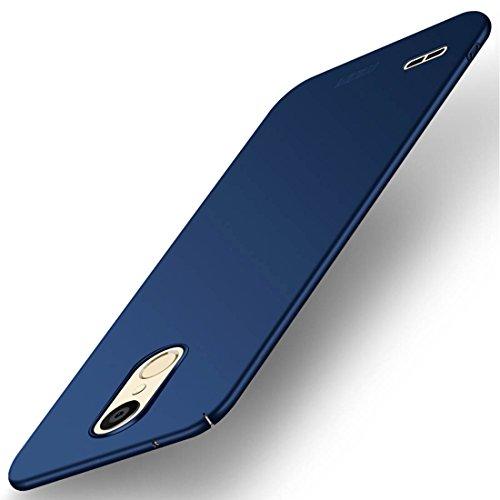 ZHENGYAQI-PHONE CASE Estuche for teléfono for LG K10 Frosted PC Estuche Ultrafino con Cubierta Protectora Totalmente Envuelta Estuche Protector (Color : Blue)