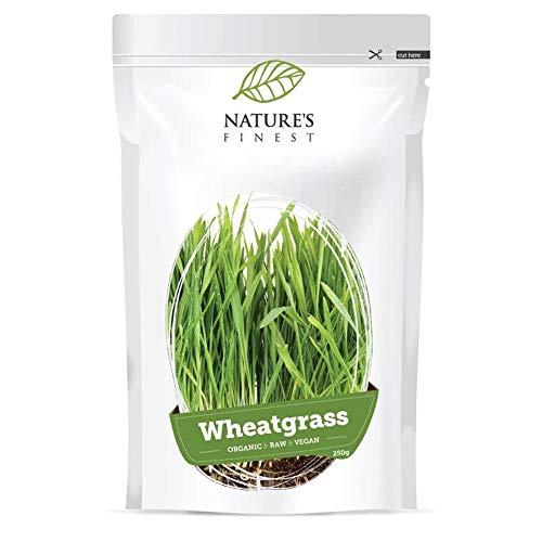 Nature's Finest Polvere di Erba di Grano Bio 250 g   Superfood Puro Biologico e Vegano   Fonte di Vitamine e Minerali   Ideale per Dieta Vegana e Vegetariana