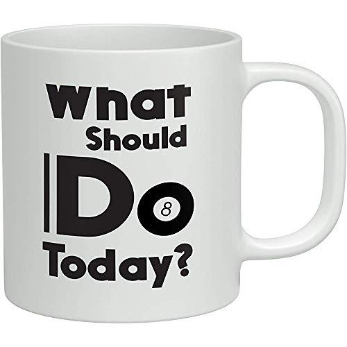 Was soll ich heute tun? 8 Ball Pool White 11oz Neuheit Geschenk Tasse Kaffee