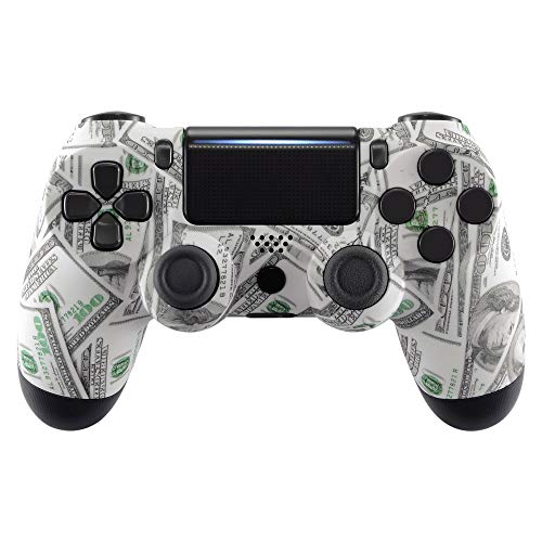 eXtremeRate Patterned Series Front Housing Shell Faceplate Cover for PS4 Slim PS4 Pro Controller (CUH-ZCT2 JDM-040 JDM-050 JDM-055)- Controlle NOT Included