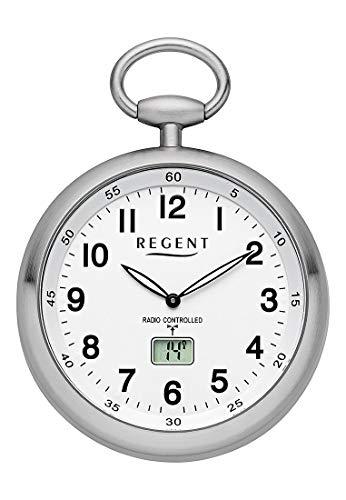 Regent Unisex-Armbanduhr Analog, digital Quarz, Funk One Size, weiß, Silber