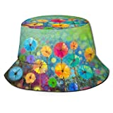 GodYo Bucket Hat Packable Reversible Nature Flowers Print Sun Hat Fisherman Hat Cap Camping al Aire Libre